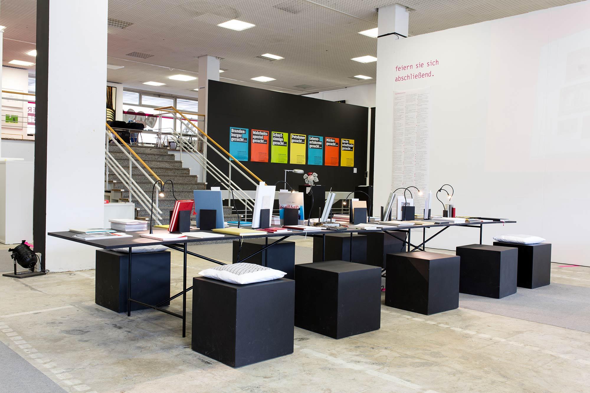 24pt – 24 Jahre Typografielehre in Potsdam – Ausstellungsgestaltung